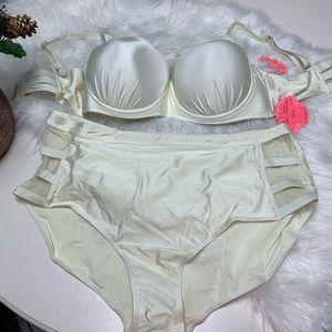 Coral Tropics by Apollo Plus Size Swimsuit NEW